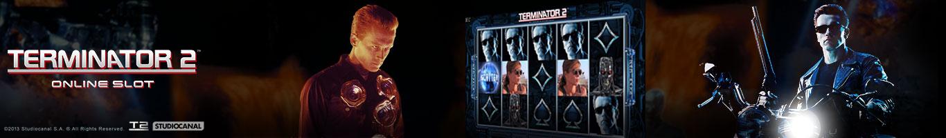 Terminator II Slots Banner