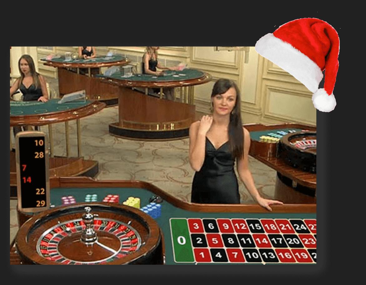 Playtechs weihnachtliches Live-Roulette