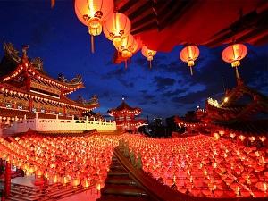 Festdekorationen der chinesischen Neujahrsfeier