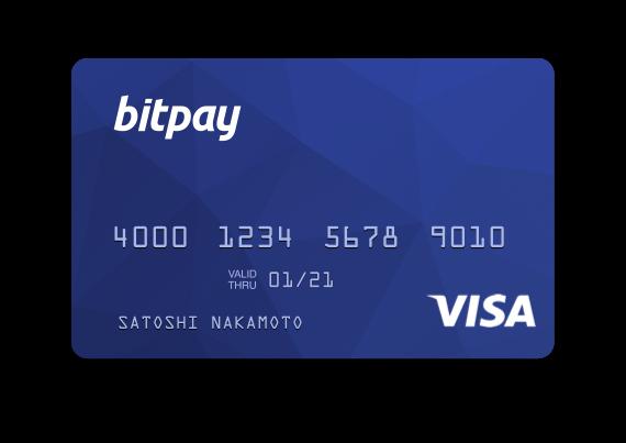 Eine BitPay-Visakarte